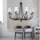 Cone Pendant Lighting with Resin Antler and Hanging Chain Multi Light Indoor Chandelier Light