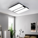 Acrylic Shade Squared Flush Mount Light Simplicity Integrated Led Ceiling Mounted Light