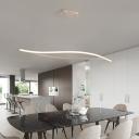 2-LED Waving Chandelier Lighting Minimalist Silica Gel Dining Room Pendant Light