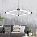 Diamond Led Hanging Chandelier Light Modern Metallic Decorative Pendant Lighting