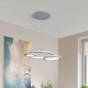 White/Gray Circular Chandelier Light Simple Metal Led Ceiling Pendant Light