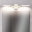 Black/White Wave LED Wall Lights Modern Metal Acrylic Sconce Wall Lamps in White/Warm for Bathroom