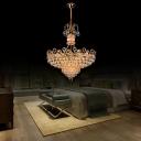 Sparkling Gold Hanging Pendant Modern Crystal Ball Hanging Ceiling Lights for Living Room