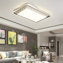 Modernism Integrated Led Ceiling Light with Flower Pattern Acrylic Shade Indoor Flush Light