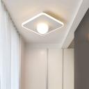 Ultra Thin Flush Mount Light with Acrylic Globe Shade Nordic Style 1 Light Ambient Lighting