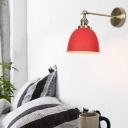 Modern Industrial Domed Sconce Lighting Fixtures Metal 1 Light Sconce Light Fixtures for Bedside
