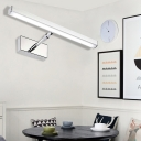 White/Warm LED Wall Lights Modern Acrylic and Stainless Steel Sconce Lights for Bathroom