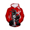 New Trendy Comic Anime Character 3D Printed Long Sleeve Pullover Hoodie