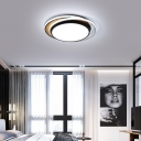 Nordic Style Black/White Ceiling Lighting with Acrylic Shade LED Wood Flush Mounted Light