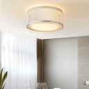 Mesh Cage Bedroom Flush Mount Ceiling Light Metal Modern Ceiling Light Fixture in Silver