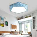 Nordic Style Diamond Ceiling Flush Metal LED Flush Mount Lighting in Multiple Colors