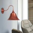 Bell Shape Sconce Wall Lighting Industrial Retro Metal Single Light Wall Sconce Lights for Foyer