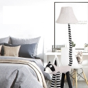 Cute Raccoon 1-Light Floor Lamp Contemporary Modern Fabric Lamp Shade for Office, Bedroom, Study