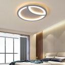 Ultra Thin Ceiling Flush Light with Round Acrylic Shade Led Simple Flush Mount Light