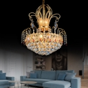 Gold Crystal Ball Chandeliers Lighting Modern Large Chandelier Light Fixtures for Villa