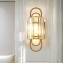 1 Head Crystal Wall Sconces Modern Metal Wall Sconce Fixture Light for Living Room and Bedroom