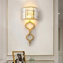 2 Head Creative Crystal Sconce Wall Lights Contemporary Metal Wall Mounted Lights for Indoor