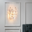 Creative Drop Crystal Sconce Wall Lights Contemporary Metal Wall Mounted Lights for Living Room