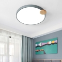 White/Grey Round Flush Mount Ceiling Light Modern Iron Acrylic Unique Ceiling Light Fixture for Bedroom