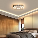 Acrylic Square Flush Mount Lighting LED Modern Simple Ceiling Flush in Black and White