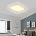 White Square/Rectangle Flush Mount Lighting LED Modern Acrylic Ceiling Flush for Bedroom