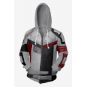 Fashion Black and Red Cosplay Costume Long Sleeve Zip Up Hoodie