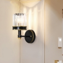 Crystal Shaded Wall Sconce Light Modern Metal 1 Head Wall Lamp Sconce for Hallway Foyer Corridor
