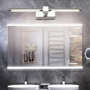 White/Warm White LED Mirror Headlights, Contemporary Acrylic and Metal Linear Sconce Fixtures