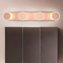 Rose Gold 3/4 Heads LED Wall Fixture Modern Acrylic Sconce Wall Lamps for Bedroom Bathroom