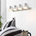 2/3/4 Heads Bell Sconce Light Fixture Modern Glass Metal Sconce Wall Lamps with White/Warm Lighting