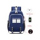 New Fashion Letter Logo Printed Trendy USB Charge Traveling Bag Laptop Bag Backpack 30*15*44cm