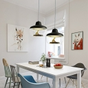 Drum Hanging Light Fixtures Nordic Style Resin and Glass 1 Light Hanging Pendant Lights for Study