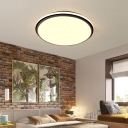 Contemporary Super Thin Circle Ceiling Light Acrylic White Flush Mount for Living Room