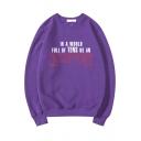 Cool Fashion Letter Eleven Printed Basic Crewneck Long Sleeve Pullover Sweatshirt