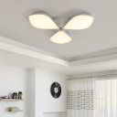 Petal Shaped Ceiling Mounted Light Nordic Acrylic Led Indoor Flush Light in White