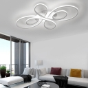 Twisted Flush Mount Ceiling Light Contemporary Led Indoor Ceiling Lamp for Living Room