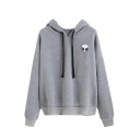 New Fashion Alien Printed Long Sleeve Loose Relaxed Hoodie