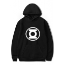 Cool Unique Comic Logo Printed Loose Fit Pullover Unisex Hoodie