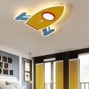 Integrated Led Rocket Ceiling Lamp Nordic Style Acrylic Flush Mount Lighting