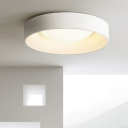 Nordic Style Ring Ceiling Light LED Metal Flush Mount Light Fixtures in Gray/White