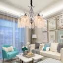 Novelty Chandelier Light Traditional Metal Crystal Ceiling Chandelier for Living Room Bedroom