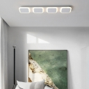 Acrylic Square Flush Lighting Nordic Style Integrated Led Ceiling Flush Mount in White