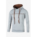Men's New Trendy Simple Plain Long Sleeve Casual Pullover Hoodie With Pocket