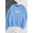 DOG MOM Letter Print Round Neck Long Sleeve Pullover Sweatshirt