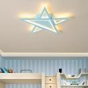 Cartoon Star Flush Mount Lighting Modern Led Acrylic Ceiling Light for Children Bedroom