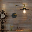 Brass and Black Sconce Lighting Fixtures Metal 1-Light Sconce Wall Lighting for Indoor