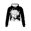 Himiko Toga Ahegao Comic Girl Printed Long Sleeve Pullover Crop Hoodie