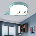 Macaron Loft Novelty Flush Mount Lights Iron 1 Light Flush Mount Lighting Kids Room Lighting