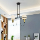Ball Pendant Lighting Modernism Opal Glass Shade Chandelier in Brushed Gold