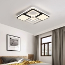 Square/Rectangle Flush Mount Light Modern Style Led Flush Light with Metal Shade